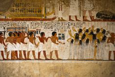 The deceased was usually buried in his tomb chamber with all of his belonging, including furniture and linens, so that they could be mirrored in the next life. Egypt, Luxor, West Bank, Tombs of the Nobles, The tomb of Ramose, Vizier and Governor of Thebes