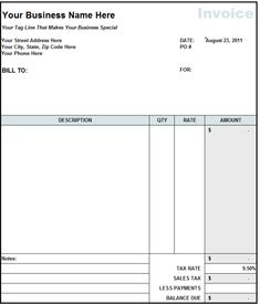 tax invoice statement template free - invoice template 2017, Invoice examples