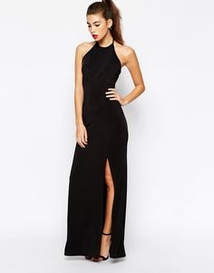 Love Halterneck Bodycon Maxi Dress With Open Back