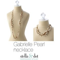 """Gabrielle Pearl necklace - Stella & Dot"" by aydinjane on Polyvore Inspired by Jackie O's ever-classic beauty and style, we designed a cluster of pearls along a delicate gold-plated chain. Wear it long for a more casual daytime look or double it up with your LBD.   41"" with 2"" extender.  Lobster clasp closure. Lead and nickel safe."