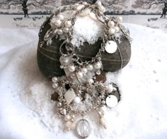 Bracelet / Necklace Set  Mixed Assemblage Two Piece by ReTainReUse