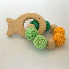 Hochet de dentition en bois façon  Montessori