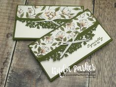 Linda Parker UK Independent Stampin' Up! Demonstrator from Hampshire @ Papercraft With Crafty : Pretty Money Wallets Using Delicate Lace Edgelits Dies - Video Tutorial Fancy Fold Cards, Folded Cards, Don D'argent, Gift Cards Money, Money Jars, Money Envelopes, Card Making Tips, Magnolia Stamps, Stamping Up Cards