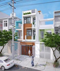 Thiết kế thi công nhà ống đẹp 3 tầng 1 tum diện tích 4x18m với 3 phòng ngủ có gara ô tô tại quận 9. Mẫu nhà phố có chổ để xe ô tô đang là xu hướng thi...