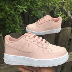 light peach custom nike air max