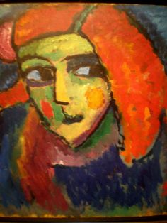 'Pale Woman with Red Hair', 1912, Alexei Jawlensky