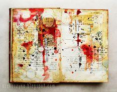 "art-journal page inspired by the ""Red rain"" song, by czekoczyna Art Journal Inspiration, Art Sketchbook, Art Projects, Art, Sketchbook Journaling, Art Journal, Book Art, Paper Art, Altered Art"