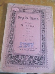 SCARCE SIGNATURE OF RUSSIAN COMPOSER SERGE TANEJEW 1865-1915 VALUABLE!