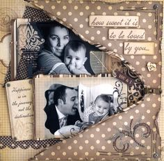 Baby Scrapbook Pages, Scrapbook Quotes, Vintage Scrapbook, Wedding Scrapbook, Scrapbook Page Layouts, Scrapbook Cards, Decoupage Tins, Heritage Scrapbooking, Scrapbook Embellishments
