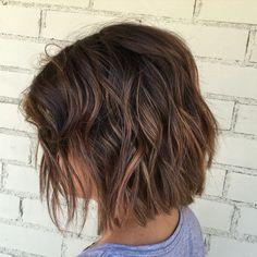 Balayage, brown hair, brown balayage, brown hair color, highlights, Babylights, short hair