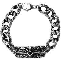 Black Zirconia Diamond Stainless Steel Gothic Cross Chain Bracelet for those with expensive tastes she will love this beautiful maintenance free bracelet. $75