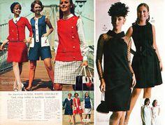 1969 fashion via jc penny's catalog / mad men fashion week / 60s vintage fashion
