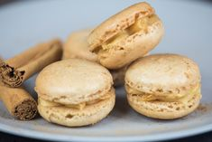 Spiced Gingerbread Macarons with Salted Caramel Buttercream. Deadly!