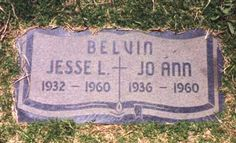 Jesse Belvin - American R&B singer, pianist and songwriter popular in the 1950s, whose success was cut short by his death in a car crash aged 27.