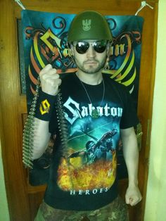 Share Your Sabaton merchandise image and you could end up in the official webshop, and get a free T-shirt!