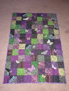 Butterfly Quilt from charm squares? Batik