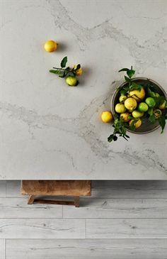 Caesarstone's New Marble Inspired Calacatta Nuvo Stone Kitchen, New Kitchen, Kitchen Ideas, Kitchen Reno, Kitchen Benchtops, Kitchen Countertops, Marble Countertops, Ceasar Stone, Calacatta Nuvo