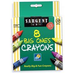 Best-Buy Crayon Assortments, Sargent Art®, Economy Crayon Packs, Big Ones® Crayons, 8 colors, SAR220589