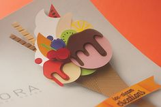 Flora - Ice Cream Creation on Behance