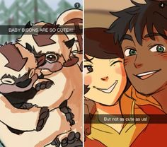 Legend of Korra Snapchats | by beroberos | Taken by bolin, korra and asami, and kai respectively. | Avatar