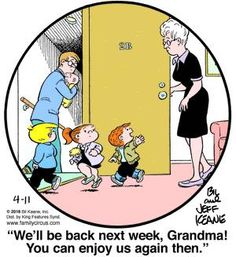 Created by Bil Keane and based loosely on his life, Family Circus is about the challenges and adventures of a suburban family of six. Family Circle, Love My Family, Funny Babies, Funny Kids, Family Circus Cartoon, Quotes About Grandchildren, Grandkids Quotes, Grandmothers Love, Comics Kingdom