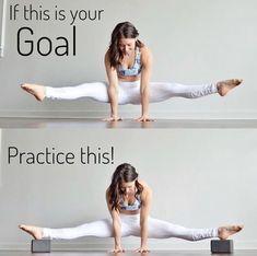 "The ""practice this"" pic is my goal for now... #yoga #yogaposes #yogafitness #yogatraining #yogapinterest #yogaforbegginers"