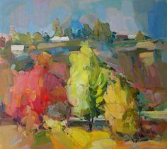 100-8015.jpg - Peinture,  100x90x3 cm ©2014 par Taron Xachatryan -                                                        Expressionnisme abstrait, Toile, Paysage