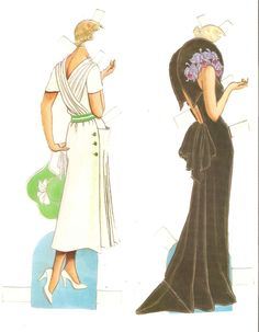 GREAT FASHION DESIGNS OF THE THIRTIES | Miss Missy Paper Dolls: Great Fashion Designs of the 1930s