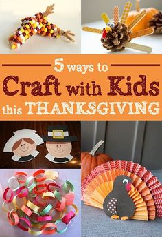5 Ways to Craft with Kids this Thanksgiving
