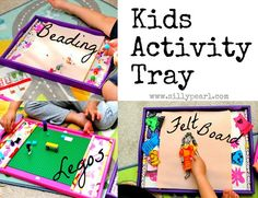 Craft Tutorial: Kids Activity Tray for Legos, Beads, and as a Felt Board