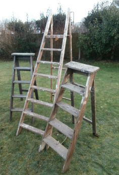 three wooden ladders bought - Wooden A Frame Ladder