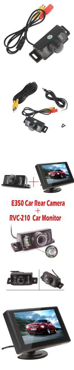 4.3 Inch TFT LCD Car Monitor Car Rear View Monitor + E350 Night Vision Waterproof Color Car Rear View Camera