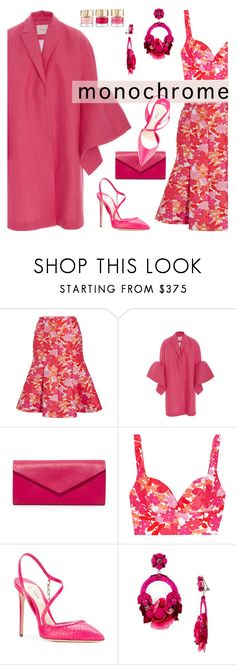 """Color Me Pretty: Head-to-Toe Pink"" by slavicabojanovic ❤ liked on Polyvore featuring Michael Kors, Peter Pilotto, Olgana, Ranjana Khan and monochromepink"