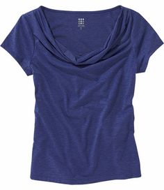 These tops make wear and care a breeze. The lightweight quick-dry fabric will keep you cool, even on the most humid of days. Both are made of our Breeze™ fabric, a heathered, wrinkle-fighting blend of poly/rayon/spandex. Flattering drape neck. Tee: Cap sleeves. Only @ T9. XS(2), S(4-6), M(8-10), L(12-14), XL(16)