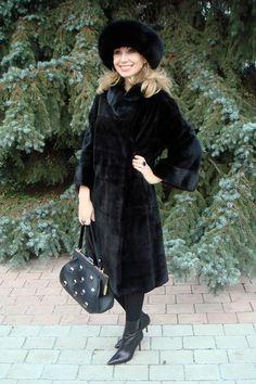 blue Oasis skirt - black gianmarco lorenzi boots - black Blackglama coat