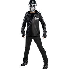 Boys Bad to the Bone Costume - Party City Childrens Halloween Costumes, Cheap Halloween, Halloween Kids, Halloween 2019, Halloween Makeup, Costumes For Sale, Boy Costumes, Costume Ideas, Bad To The Bone