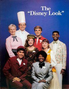 Vintage Disneyland Cast Members guide: The Disney Look - 1987 Walt Disney Co, Disney Love, Disney Magic, Disney Parks, Disney Theme, Disney Stuff, Disneyland Opening Day, Disneyland Tickets, Vintage Disneyland