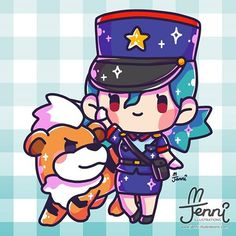 Officer Jenny 💖 w/ growlithe 🔥 . Fire Pokemon, 150 Pokemon, Pokemon People, Cute Pokemon Wallpaper, Cute Cartoon Wallpapers, Cute Kawaii Drawings, Kawaii Art, Pikachu, Cute Kawaii Animals