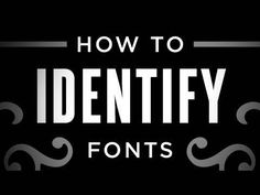 Another video I found very useful. In this one she describes how to tell the differences between different typefaces.