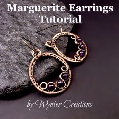 Learn to create a fun, sassy pair of wire wrapped earrings with this tutorial from Wynter Creations!  These instructions include a number of useful jewelry making skills, including basic wrapping and coiling, creating frames and shaping filigree-style forms.  This is an ideal project for the advanced beginner (someone who's had some wire work experience but would like to learn more), but is suitable for someone just starting out as well.