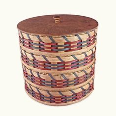 Amish Made Woven Wood Communion Cup Tray Basket Communion Trays, Jute Bags, Amish, Natural Wood, Wicker, Hand Weaving, Carving, Plates, Baskets