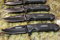 Gift for Groomsmen, Pocket Knife, Engraved Folding Hunting Knives, Groomsman Gift, Best Man Gift, Custom Knives, Rescue Knife, Personalized