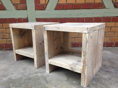 Hocker - Bauholz Hocker, Nachttisch oder Beistelltisch - ein Designerstück von ednaja bei DaWanda