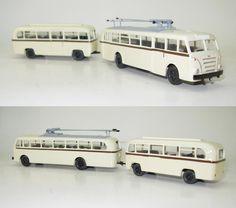 LOWA W602a Oberleitungsbus mit Anhanger LOWA W700 Dekor DVB Dresden DDR 1:87 HO