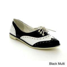 BUMPER EUGENIA02 Women's Round Toe Lace Up Oxford On Flat Bottom, Color:BLACK MULTI, Size:6.5 Bumper http://www.amazon.com/dp/B00HWRPV58/ref=cm_sw_r_pi_dp_GXw1tb08KRQBNX43
