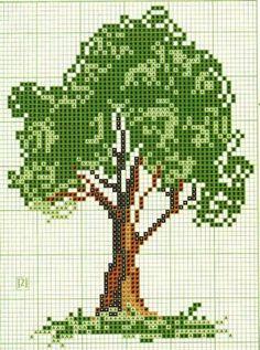 Tree cross stitch.