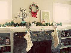 garland for window; use baby ornaments instead.