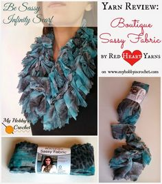 """My Hobby Is Crochet: """"Be Sassy"""" Infinity Scarf and Yarn Review: Boutique Sassy Fabric by Red Heart Yarns"""