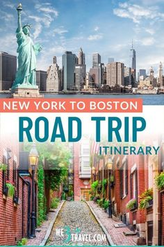 Plan a road trip through Southern New England with this New York to Boston road trip itinerary including fun stops in Connecticut, Rhode Island, and Massachusetts. Perfect for a family vacation or adjustable for a long weekend getaway. Road Trip With Kids, Family Road Trips, Road Trip Usa, Family Travel, Boston, New England Travel, Road Trip Destinations, Road Trip Hacks, Round Trip