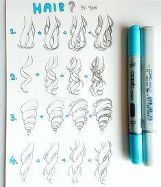 Likes, 72 Comments - Yoai / Anny / Cicishu ( Manga Hair, Anime Hair, Hair Sketch, Pen Shop, Digital Art Tutorial, Art Poses, How To Draw Hair, How To Draw Manga, Art Reference Poses